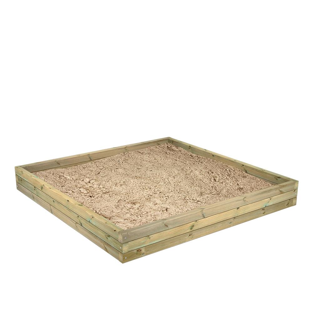 Afbeelding van Zandbak van hout BuddyBox in drie hoogtes verkrijgbaar