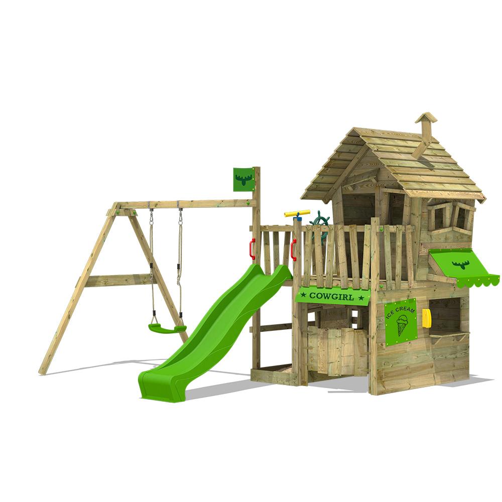 Afbeelding van Speeltoren met schommel CountryCow Maxi