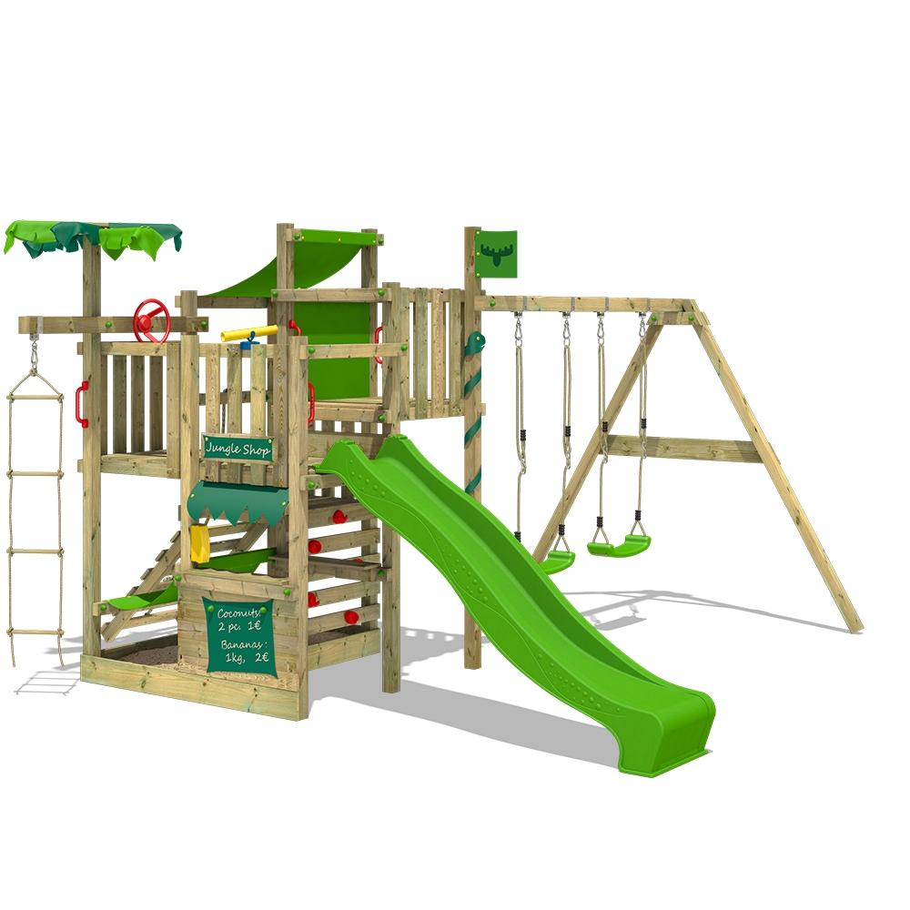Afbeelding van Speeltoren met glijbaan CrazyCoconut Club XXL Speeltoestel