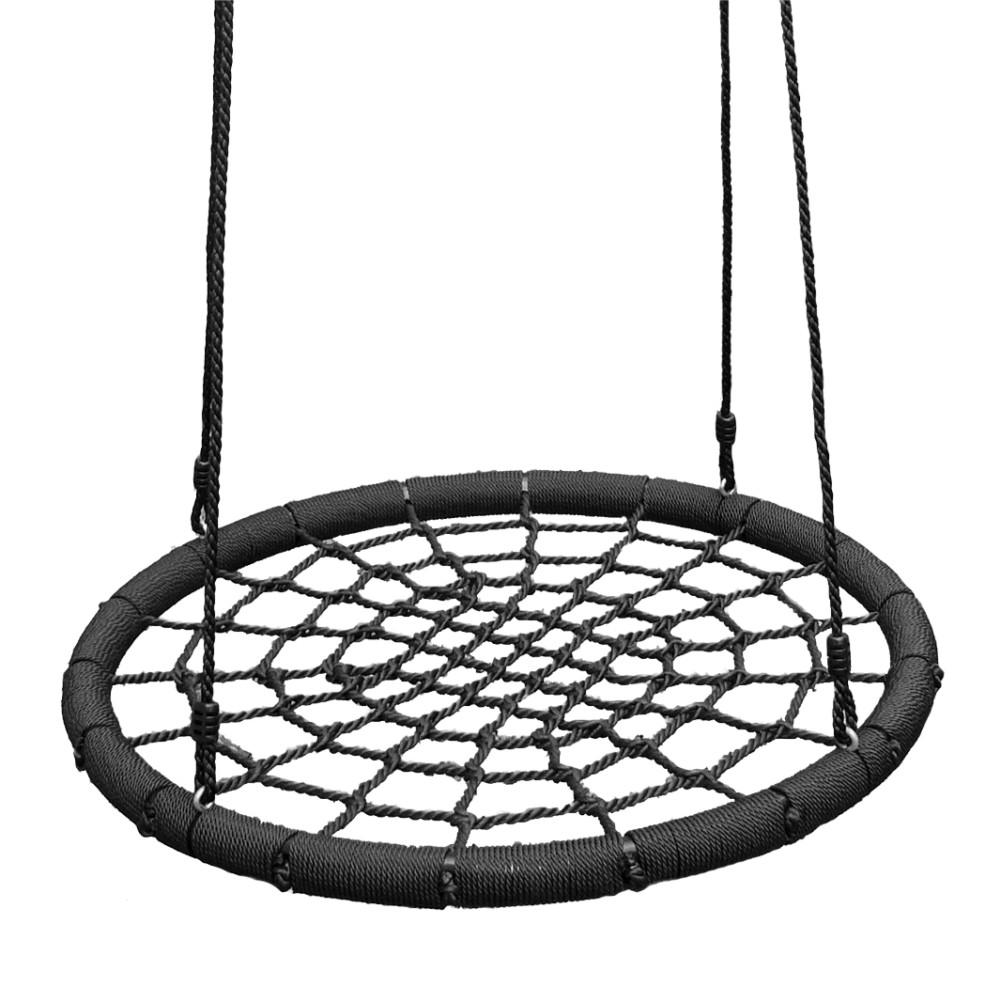Afbeelding van Wickey Nestschommel groot zwart voor kinderen
