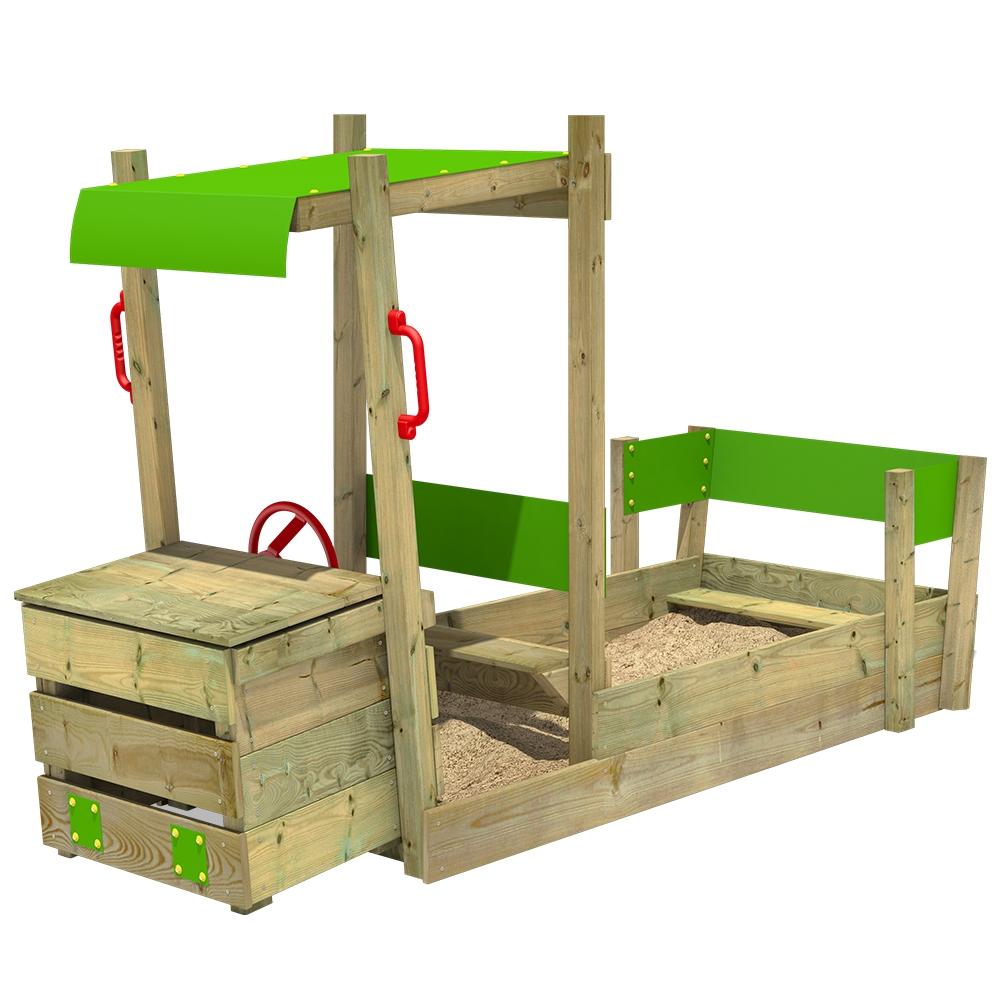 Afbeelding van Zandbak van hout PowerPulley Kinderzandbak