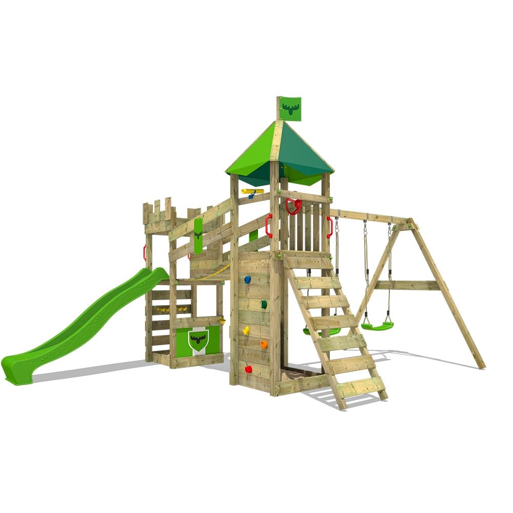 Afbeelding van Speeltoren met glijbaan en schommel RiverRun Royal XXL