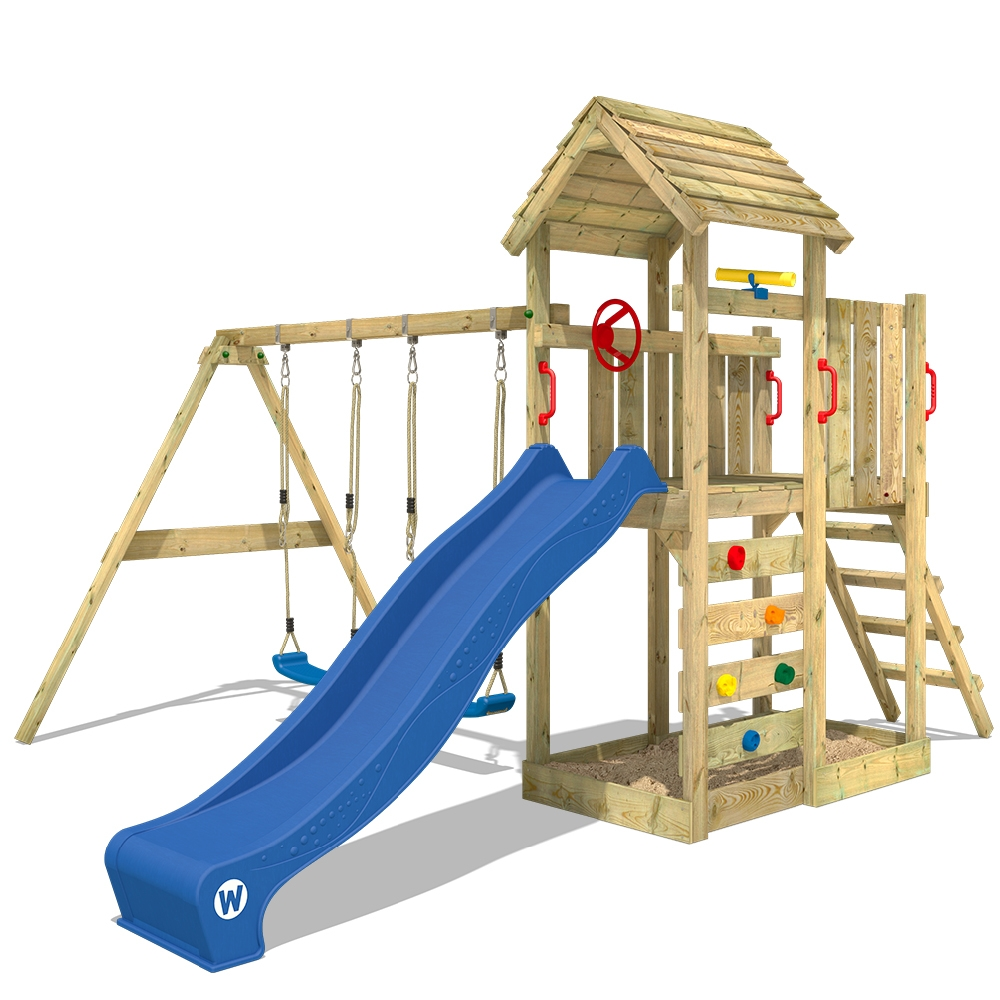 Afbeelding van Wickey Speeltoestel met houten dak MultiFlyer
