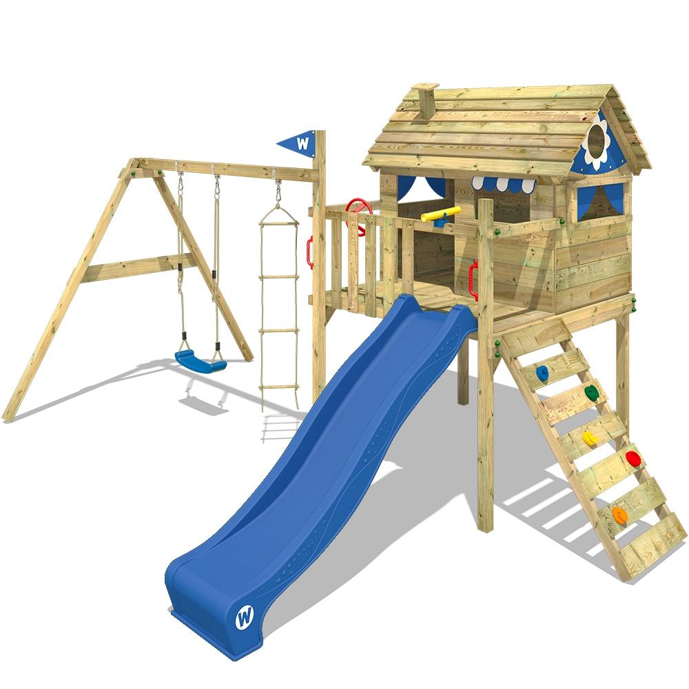 Afbeelding van Wickey Speeltoestel met glijbaan Smart Travel Speelhuisje